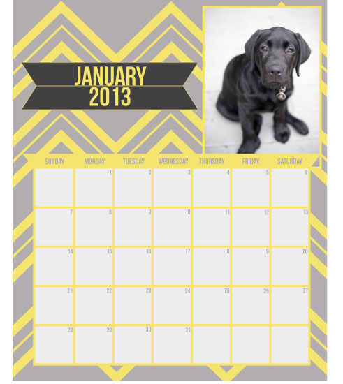 calendars - Stripey Chevron by Robin Nathan