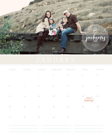 calendars - Family Seal by Ashlee Proffitt