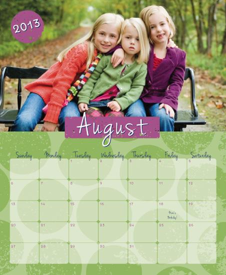 calendars - Polka Dottie Dot by the co.co. studio