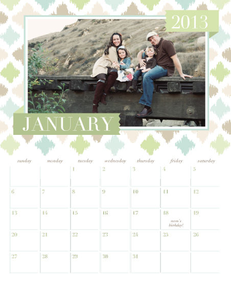 calendars - Diamond Ikat by the co.co. studio
