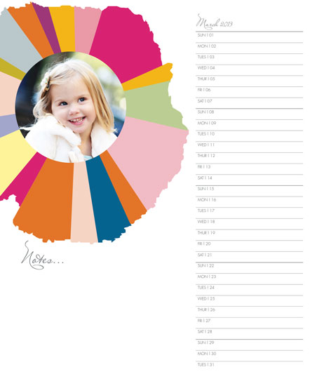calendars - Color Burst Calendar by Erin Deegan