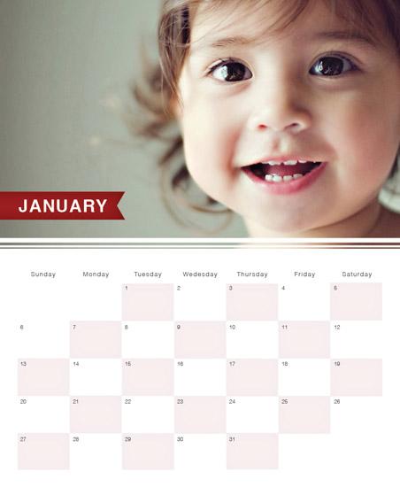calendars - Red Flag Grid by Shinae