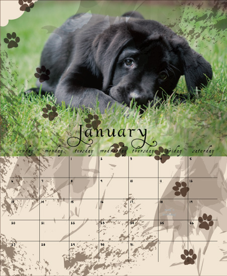 calendars - puppy love by Elina