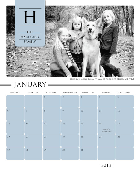 calendars - Family Monogram Banner by the co.co. studio