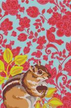 Chipmunk Floral by Karla Pruitt