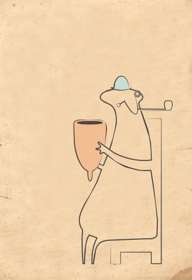 art prints - gentleman with pipe by SOPHiE