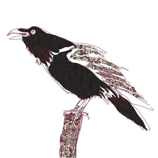 art prints - Raven by Kristine Hickcox