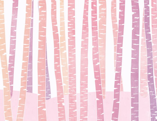 art prints - Pink Birch by Sharise Williams