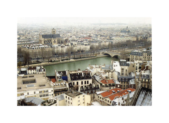 art prints - rooftops near Notre Dame by Smitzdesign