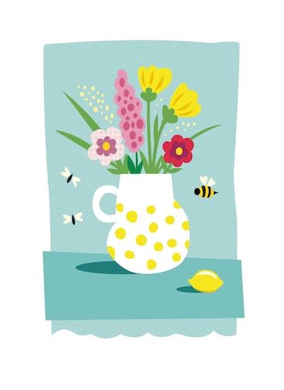 art prints - Lemon with Polka Dots by lb