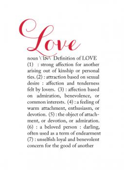 Definitions:  Love