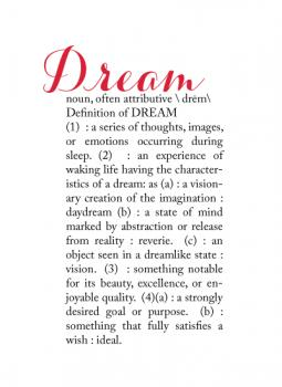 Definitions:  Dream