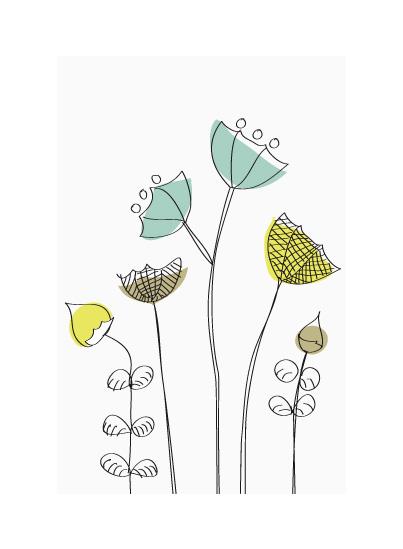art prints - Whimsical Summer Flowers by Åsa Ranneby