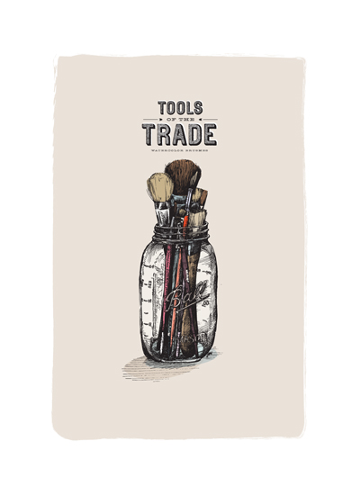 art prints - tools: brushes by pottsdesign
