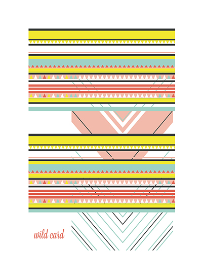 art prints - Wild Card by Llorente Design
