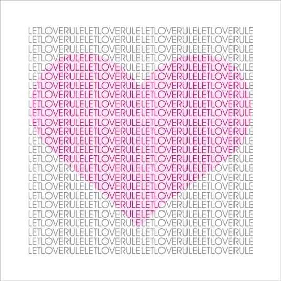 art prints - Let love rule by Shaz