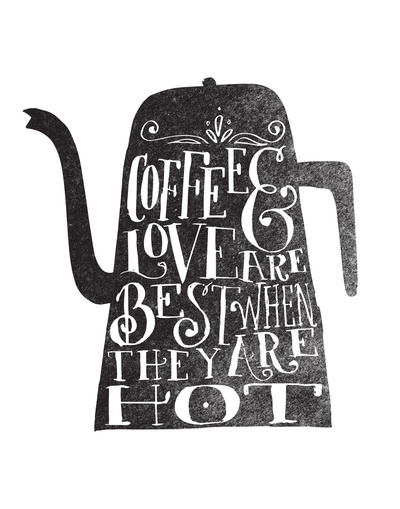art prints - COFFEE & LOVE by Matthew Taylor Wilson