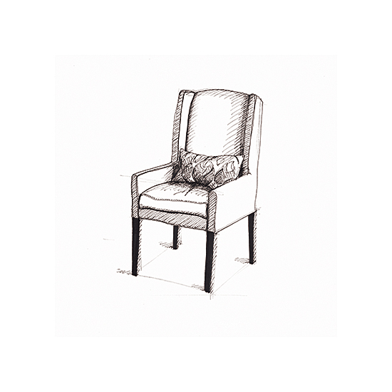 art prints - Arm Chair Sketch Circa 2005 by Becky Nimoy