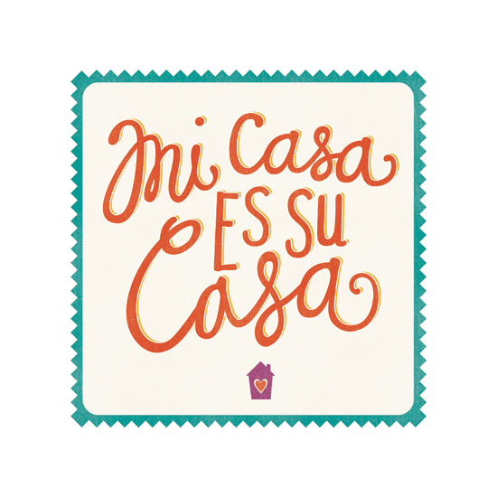 art prints - Mi Casa Es Su Casa by Lauren Heffron