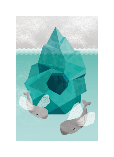 art prints - Flying Whales by Rachel Beyerlein