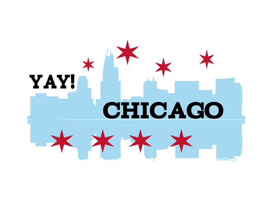 art prints - Yay Chicago by Steel Petal Press