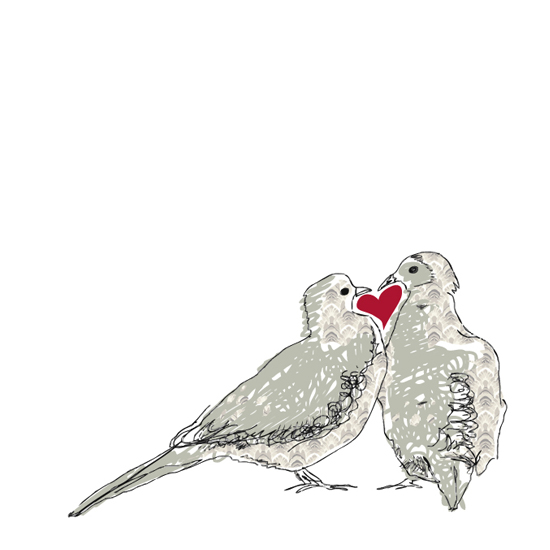 art prints - Doves In Love by Kristine Hickcox