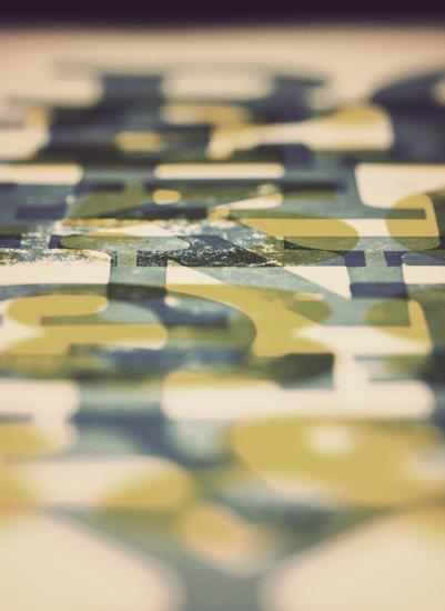 art prints - Letterpress by 45wall design