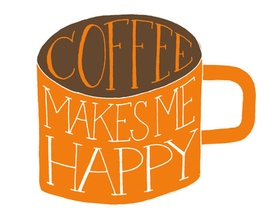 art prints - Coffee Makes Me Happy by Sarah Michelle Wilson