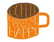 Coffee Makes Me Happy by Sarah Michelle Wilson