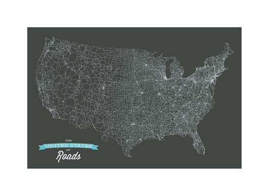 art prints - United Roads by GeekInk Design