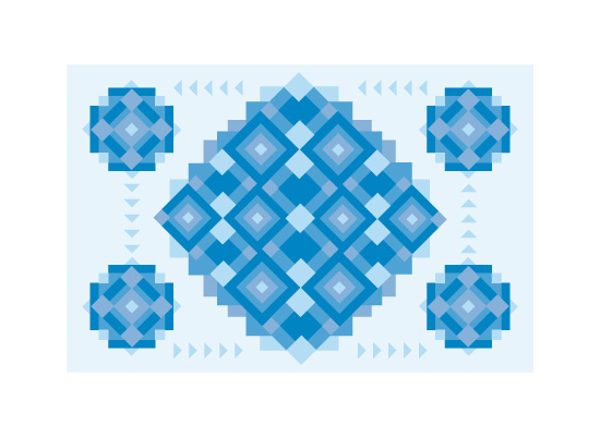 art prints - Blocks of Blue by Omar