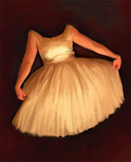 art prints - Hell dress by Anita Drieseberg