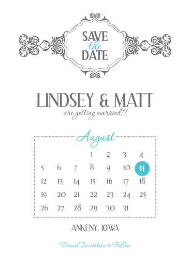 save the date cards - Embellishment by Larissa Degen