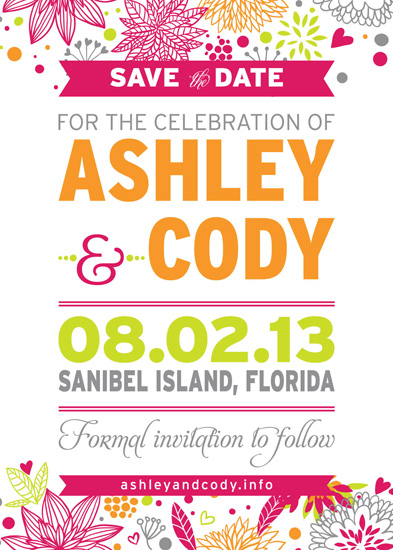 save the date cards - A+C Save the Date by Larissa Degen