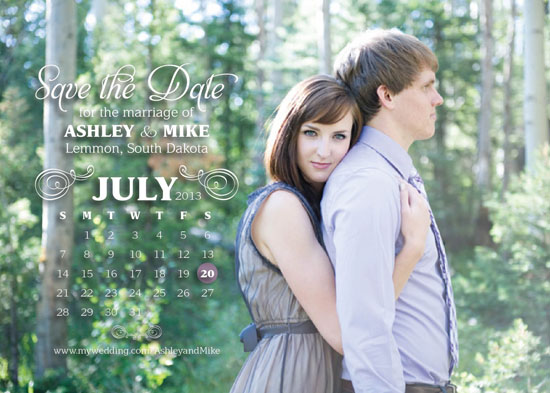 save the date cards - A+M Calendar Save the Date by Larissa Degen