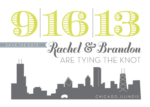 save the date cards chicago skyline at minted com