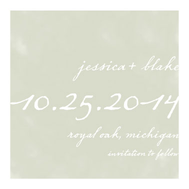 save the date cards - Simple Square by The Paper Proposal