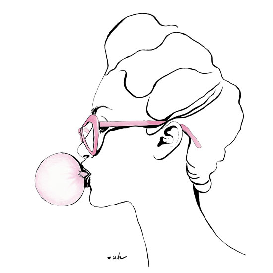 art prints - bubble gum by anna hammer