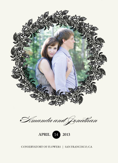save the date cards - Floral Wishes by Jules and Ink