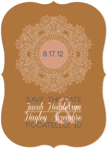 save the date cards - Floral Doily  by Jessica Morris