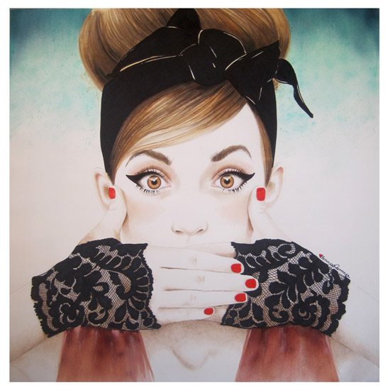 art prints - Speak No Evil by anna hammer