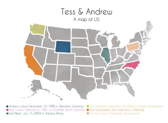 art prints - A Map of Us by NomadicPoetryStudio