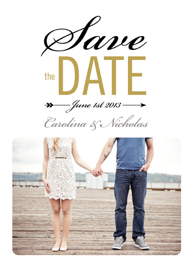 save the date cards - Cupid's Arrow by Chryssi Tsoupanarias