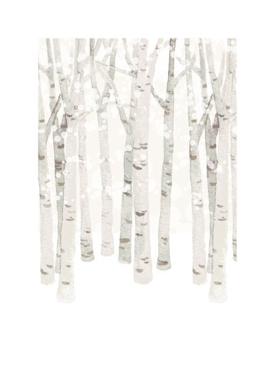 art prints - Birch Woods in Winter by Four Wet Feet Studio