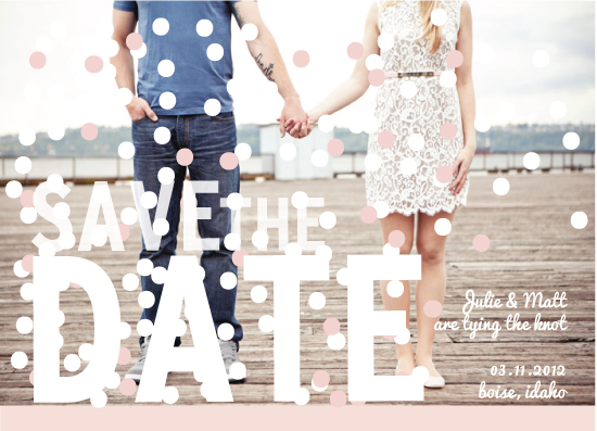 save the date cards - Sprinkled by Julie Lerice
