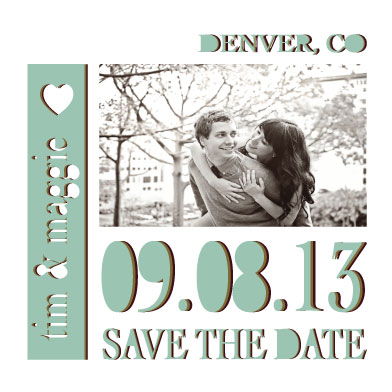 save the date cards - Cut-Out for Love by Jessica Morris
