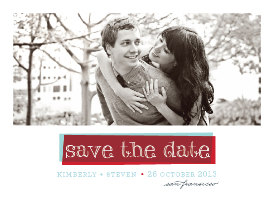 save the date cards - layered by Rebecca Bowen