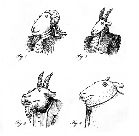 art prints - Goats by Alex Elko Design