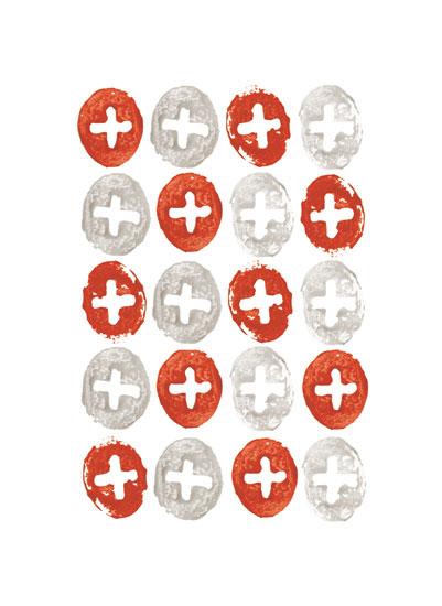 art prints - stamped cross circles by Jenn Goodrich