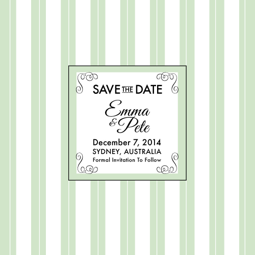 save the date cards - Love In Mint by digijewels